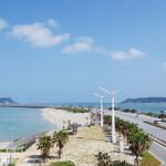 綺麗な海がひろがる海中道路ロードパーク