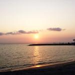 北谷サンセットビーチの夕日が綺麗