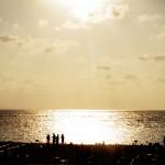 トロピカルビーチの夕日がきれいだった