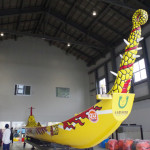 那覇ハーリー会館で爬龍船を収納する様子を見れた!