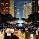 新宿中央公園で三回目の野外シネマイベント開催