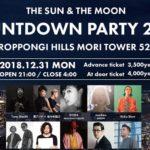 六本木ヒルズ森タワー52階THE SUN&THE MOONでCOUNTDOWN PARTY2019開催