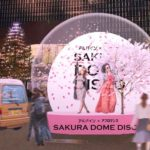 桜が舞う巨大なスノードームが登場!「SAKURA DOME DISCO」