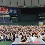 東京ドームで一夜限りのヨガイベント「ジェクサー東京ドームナイトヨガ2019」開催