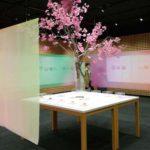 虎屋 赤坂ギャラリーの「花と緑の和菓子」展へ