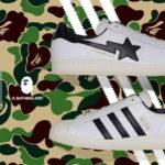 BAPE® × adidas Originals コラボモデルのスーパースターが登場